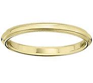 Mens 18K Yellow Gold 2.5mm Milgrain Wedding Band - J376195