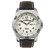Timex Mens Expedition Watch with Brown LeatherBand - J102196
