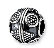 Prerogatives Sterling Circle and Diamond DesignArtisan Bead - J113296