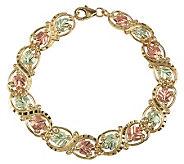 Black Hills Diamond-Cut Eternity Link Bracelet, 10K/12K Gold - J113696
