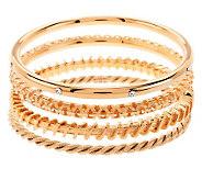 Jacqueline Kennedy Set of 4 Goldtone Bangle Bracelets - J276496