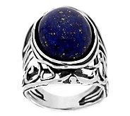 Sterling Silver Gemstone Scroll Design Ring by Or Paz - J278796