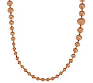 Veronese 18K Rose Gold Clad 36 Graduated Satin Bead Necklace - J285596