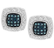 Pave Color Braided Diamond Studs, Sterling 1/5 cttw, by Affinity - J286396