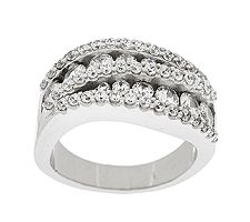 Epiphany Diamonique Round Swirl Band Ring