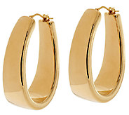 Oro Nuovo 1-1/2 Polished Graduated Hoop Earrings 14K - J295196
