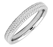 Simply Stacks Sterling 3.25mm Braid Ring - J298096