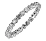 Simply Stacks Sterling White Topaz & Diamond Stackable Ring - J298696