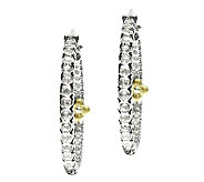 Barbara Bixby Sterling/18K White Topaz Hoop Earrings - J311796