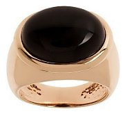 Bronzo Italia Bezel-Set Oval Gemstone Band Ring - J312296