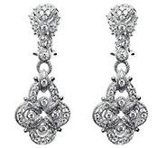 Judith Ripka Sterling Diamonique Pave Earrings - J314496