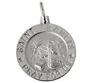 UltraFine Silver Saint Francis Pendant - J314896