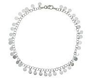 As Is Vicenza Silver Sterling Confetti Design Ankle Bracelet - J317496