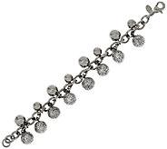 Stainless Steel Glitter Bead Charm Bracelet - J321396