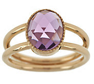 As Is EternaGold Faceted Gemstone Ring, 14K Gold - J322196