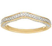 Michael Beaudry 3/10 cttw Diamond 3-Sided Band Ring, 14K Gold - J322596