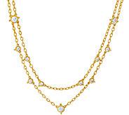 Judith Ripka 14K Clad 118 Facet Diamonique Necklace - J323196