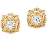 Judith Ripka 14K Clad 2.80 cttw Diamonique Earrings - J323396