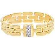 Judith Ripka Sterling 14K Clad Verona Stampato Magnet Clasp Bracelet - J323996