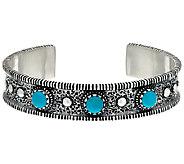 Jennifer Nettles Sterling Silver Turquoise Cuff - J324096