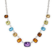 Judith Ripka Sterling 44.0 cttw Multi Gemstone Necklace - J326796