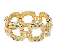As Is Jacqueline Kennedy Bold Square Link Bracelet - J328196