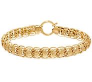 14K Gold 7-1/4 Domed Diamond Cut Fancy Woven Bracelet, 6.4g - J328296