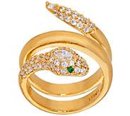 As Is The Elizabeth Taylor Sim. Diamond Snake Ring - J331496