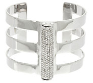 As Is H by Halston Pave Cylinder Cuff - J332496