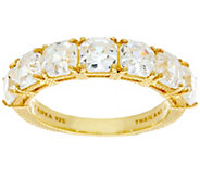 Judith Ripka Sterling/14K Clad 4.65 cttw Asscher Cut Diamonique Ring - J333496