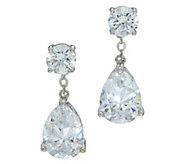 Diamonique Pear Cut Drop Earrings, Sterling - J347096