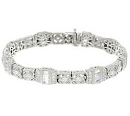 Judith Ripka Sterling or 14K Clad Estate Diamonique Tennis Bracelet - J347296