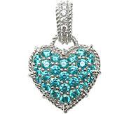 Judith Ripka Sterling Diamonique & Choice of Heart Enhancer - J376596