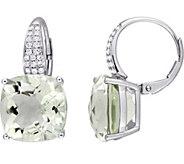 14K 13.50 cttw Green Amethyst & 1/5 cttw Diamond Earrings - J377196