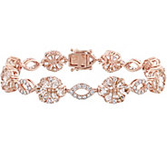 14K 12.45 cttw Gemstone & 1-1/4 cttw Diamond Flower Bracelet - J378496