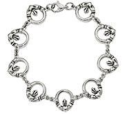 Stainless Steel 7-1/2 Claddagh Link Bracelet - J383796