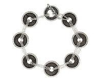 Michael Dawkins Sterling Round Drusy Chain Bracelet - J277497