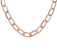 VicenzaSilver Sterling 20 Rectangular Textured Link Necklace, 16.0g - J278897