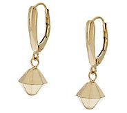 EternaGold Diamond Shape Drop Lever Back Earrings, 14K - J281397