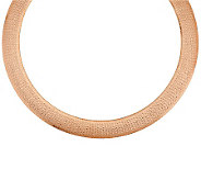 Bronzo Italia 20 Bold Domed Diamond Cut Omega Necklace - J285197