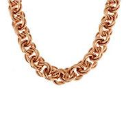 As Is Bronzo Italia 22 Bold Polished Triple Rolo Link Necklace - J292297