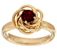14K Gold Faceted Gemstone Love Knot Ring - J295397