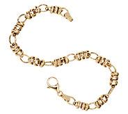 EternaGold 7-1/2 Polished Status Link Bracelet 14K Gold, 3.8g - J295597