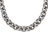 As Is VicenzaSilver Sterling 18 Polished Link Necklace,120.1g - J295697
