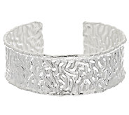 Artisan Crafted Sterling Large Hammered Cuff, 36.8g - J296097