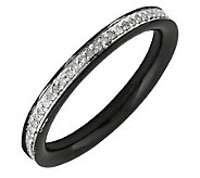 Simply Stacks Sterling Diamond Black RhodiumPlated 2.25mm Ban - J299297