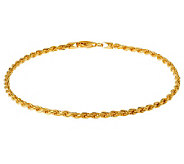 Veronese 18K Clad 20 Diamond-Cut Rope Chain Necklace - J302297