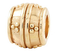 Prerogatives 14K Yellow Gold-Plated Sterling Dots Bali Bead - J302697