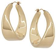 As Is Oro Nuovo 1-1/2 Twist Design Hoop Earrings - J317897