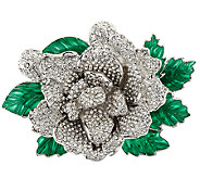 Joan Rivers Jeweled Blossoms Pave Gardenia Pin - J318697